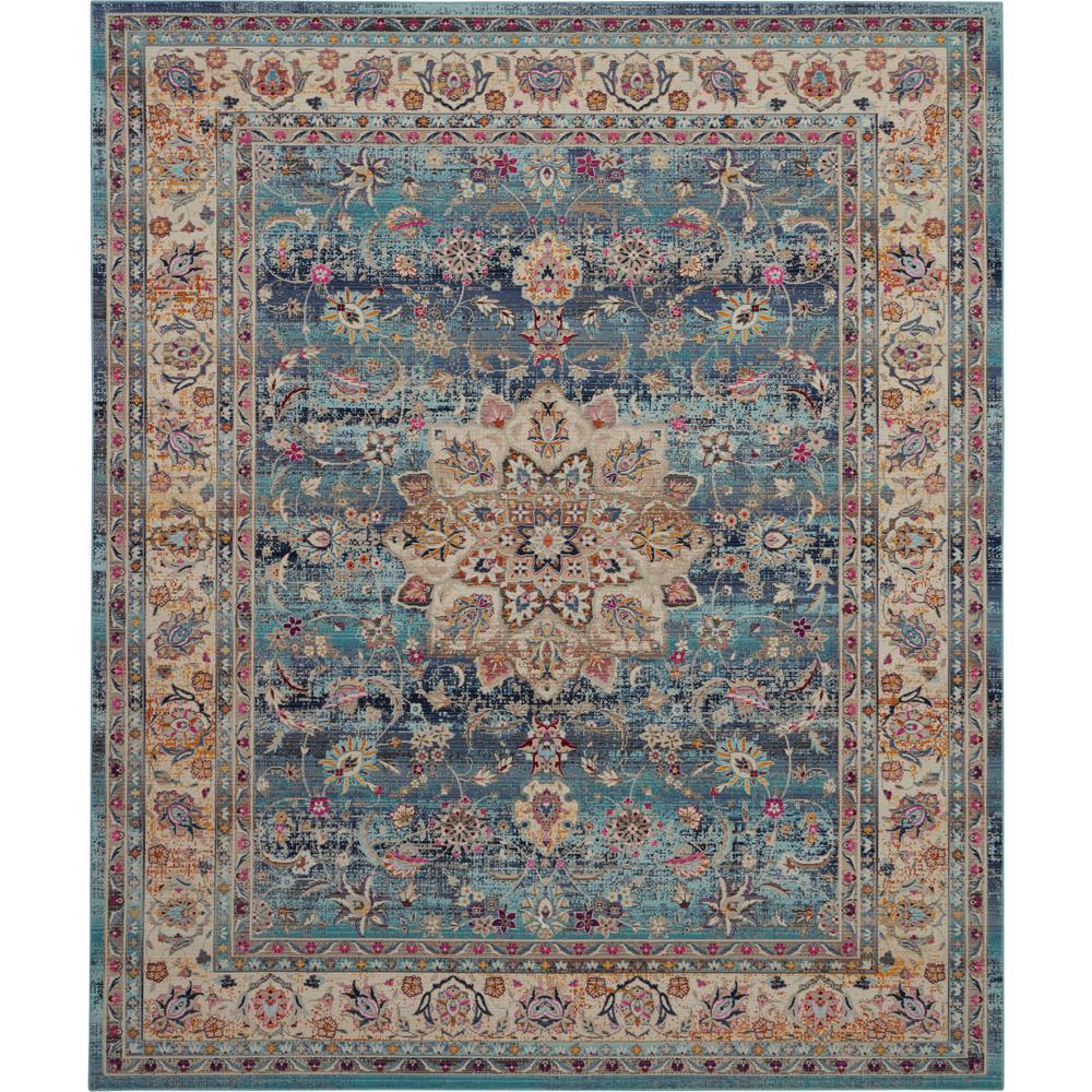 Nourison Vintage Kashan Oushak Blue 8