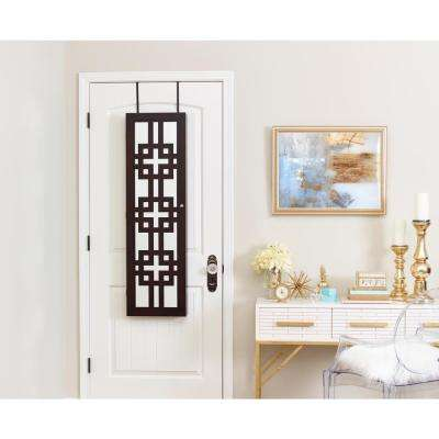 Modern Jewelry Armoire with Decorative Mirror - Espresso ade0c6dd2