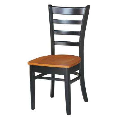 Emily Black & Cherry Wood Dining Chair (Set of 2)