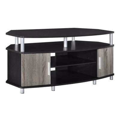 Windsor 48 in. Espresso and Sonoma Oak Particle Board TV Stand Fits TVs Up to 50 in. with Adjustable Shelves