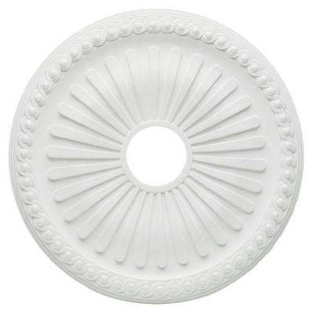 20 in. White Soleil Ceiling Medallion