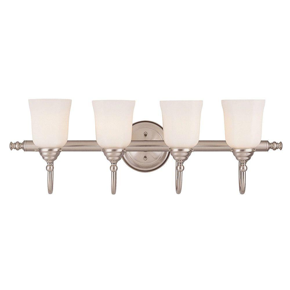 Illumine 4-Light Satin Nickel Bath Bar Light