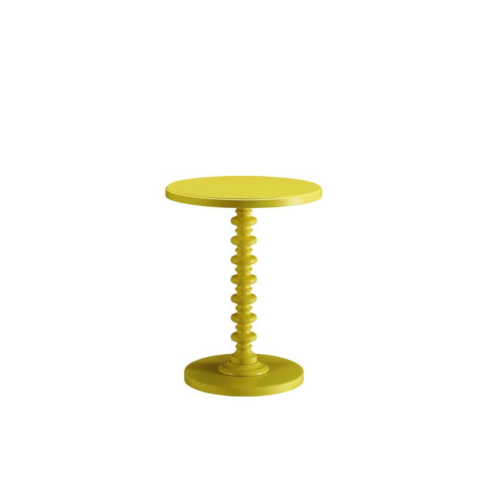 Amelia Yellow Solid Wood Leg Side Table