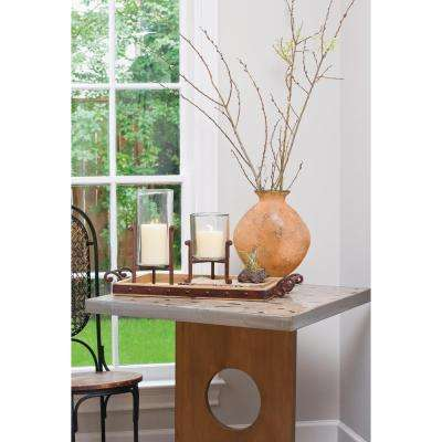 Telluride 30 in. x 16 in. and 23 in. x 12 in. Decorative Trays in Montana Rustic and Mango Wood (Set Of 2)