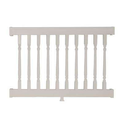Delray 3 ft. H x 4 ft. W Vinyl Tan Railing Kit with Colonial Spindles