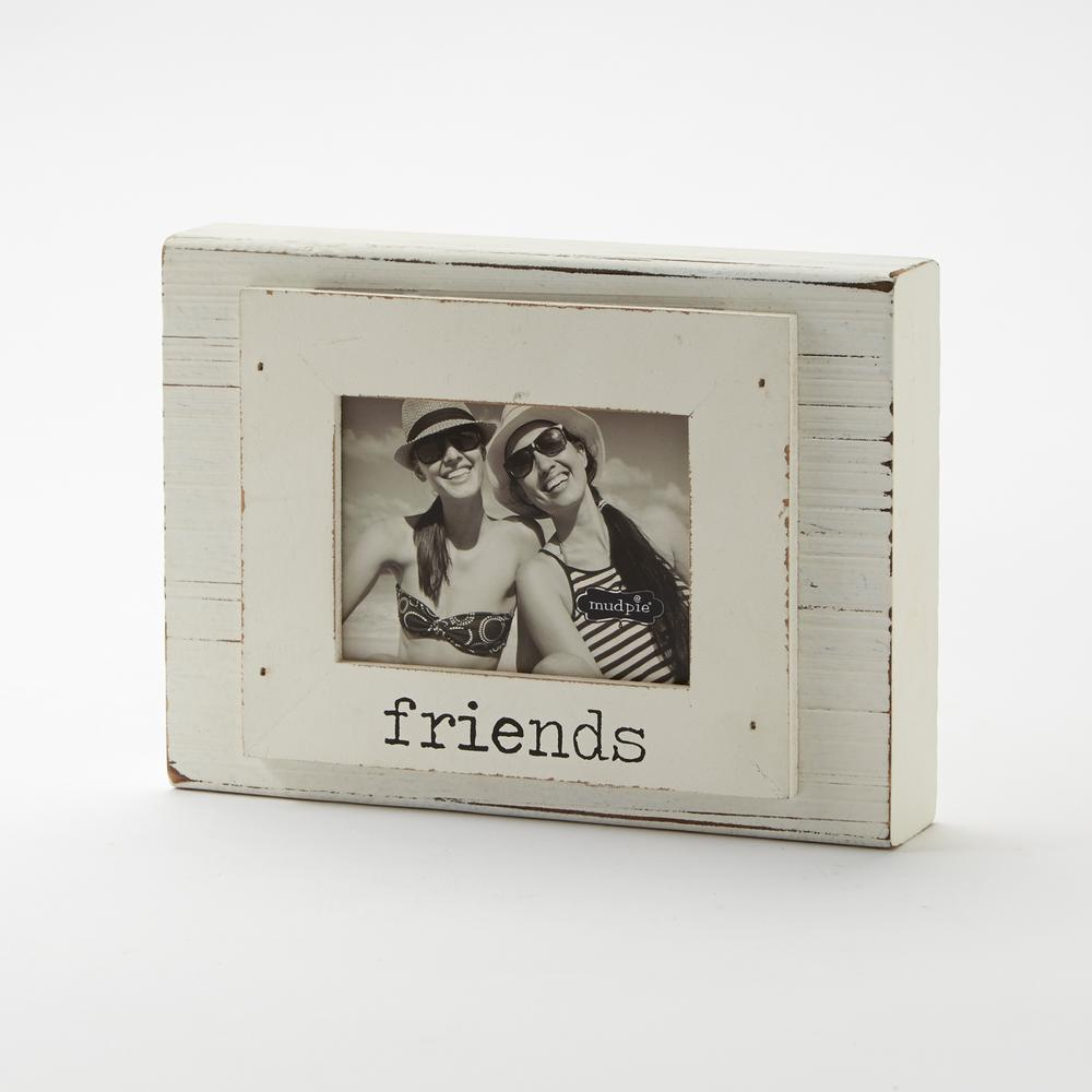 Friends 3 in. x 4 in. White Block Frame-4695278 - The Home Depot