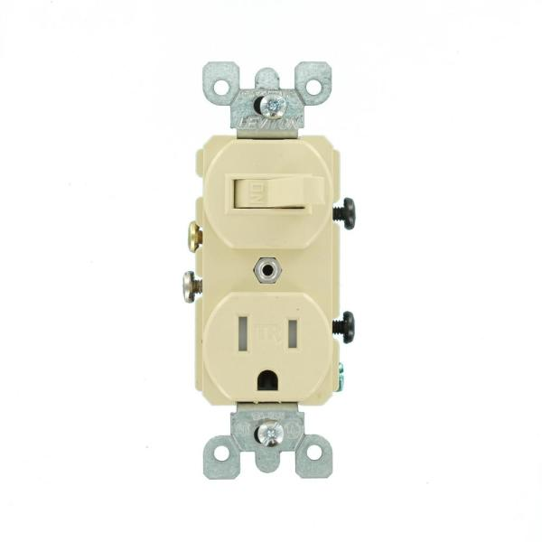 leviton 15 amp tamperresistant combination switch and