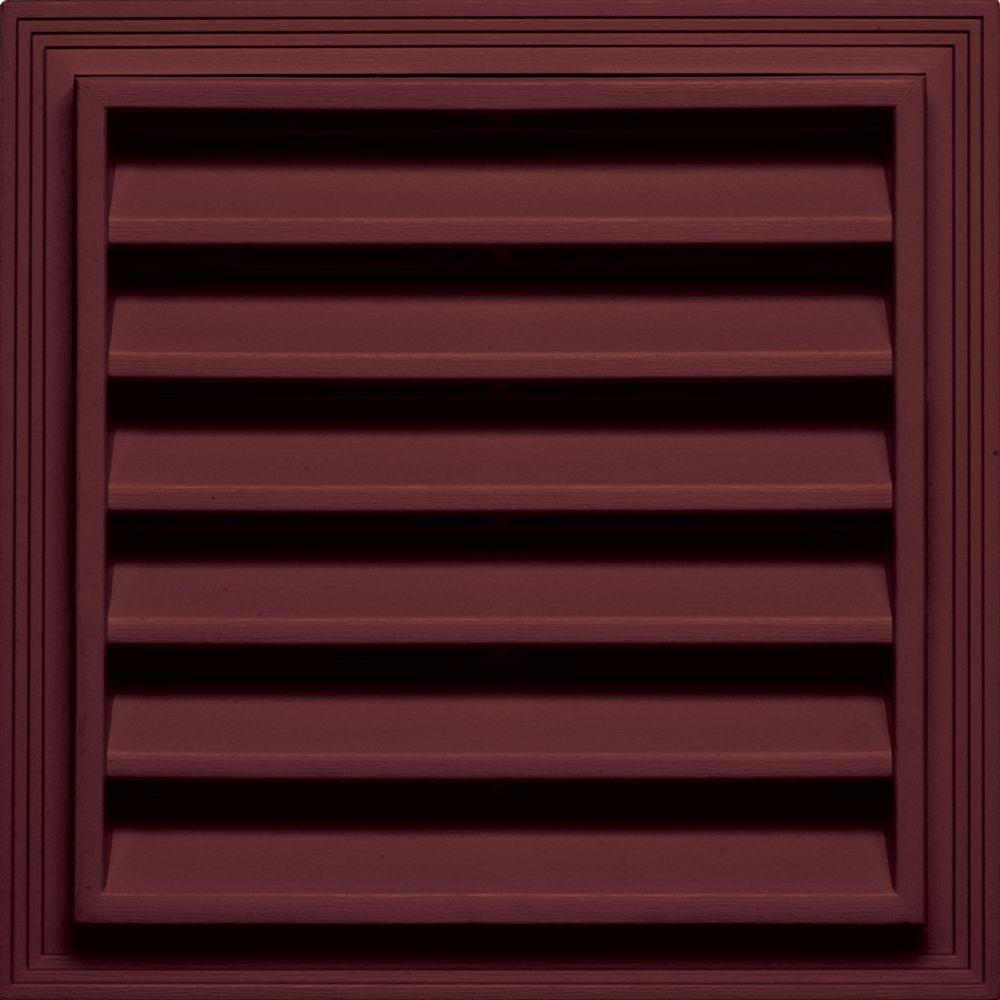 Builders Edge 12 in. x 12 in. Square Gable Vent in Wineberry