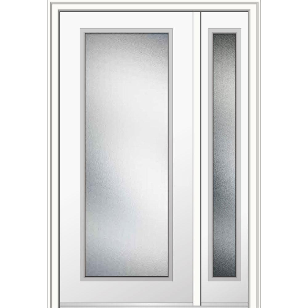 Mmi door 48 in x 80 in micro granite right hand full - Installing prehung exterior door on concrete ...