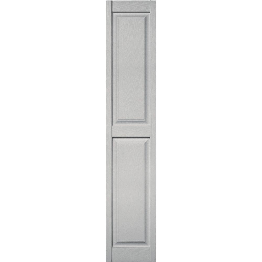 builders edge 15 in x 75 in raised panel vinyl exterior shutters