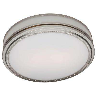 Riazzi Decorative 110 CFM Ceiling Bath Fan with Cased Glass and Night Light