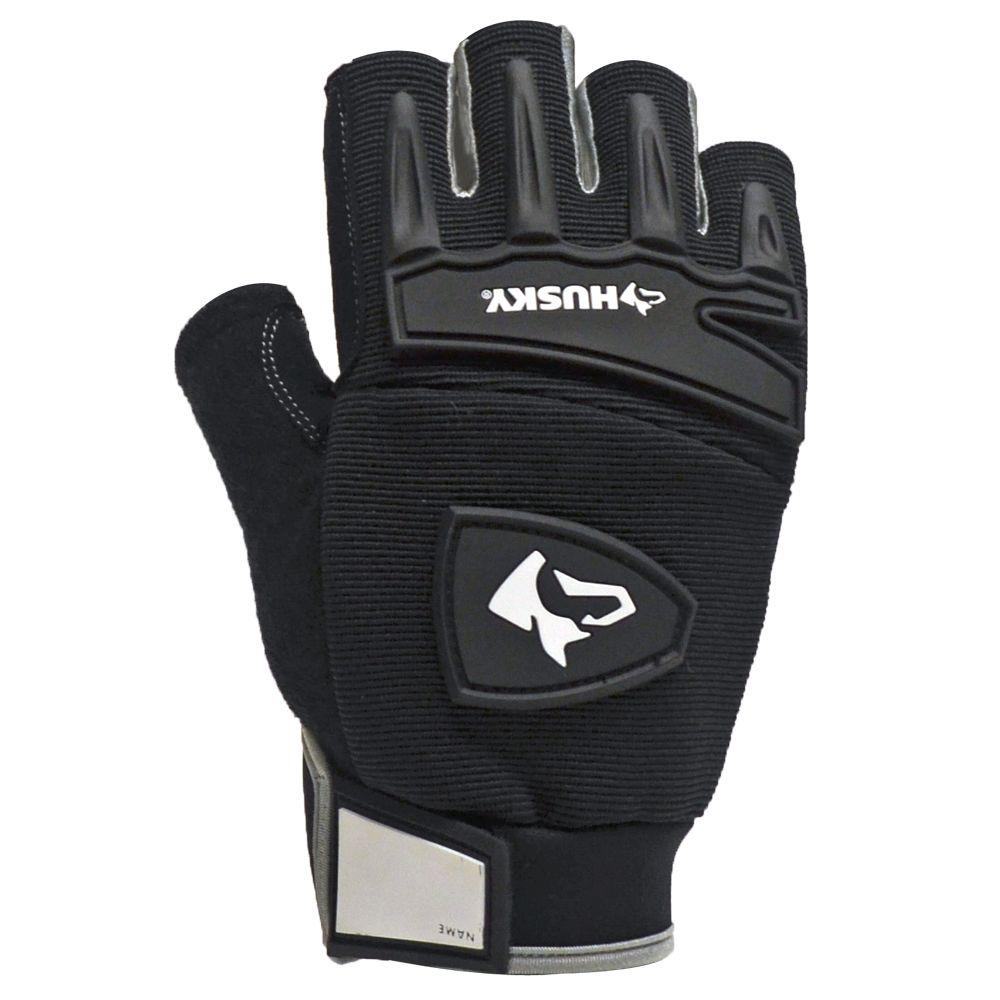 Husky Medium Fingerless Mechanics Glove