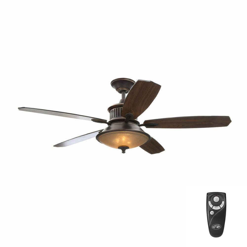 Isolabella II 52 in. Indoor Tarnished Bronze Ceiling Fan with Light