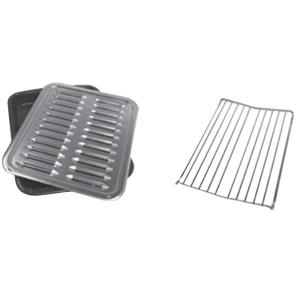 Click here to buy Whirlpool Premium Broil Pan and Roasting Rack by Whirlpool.