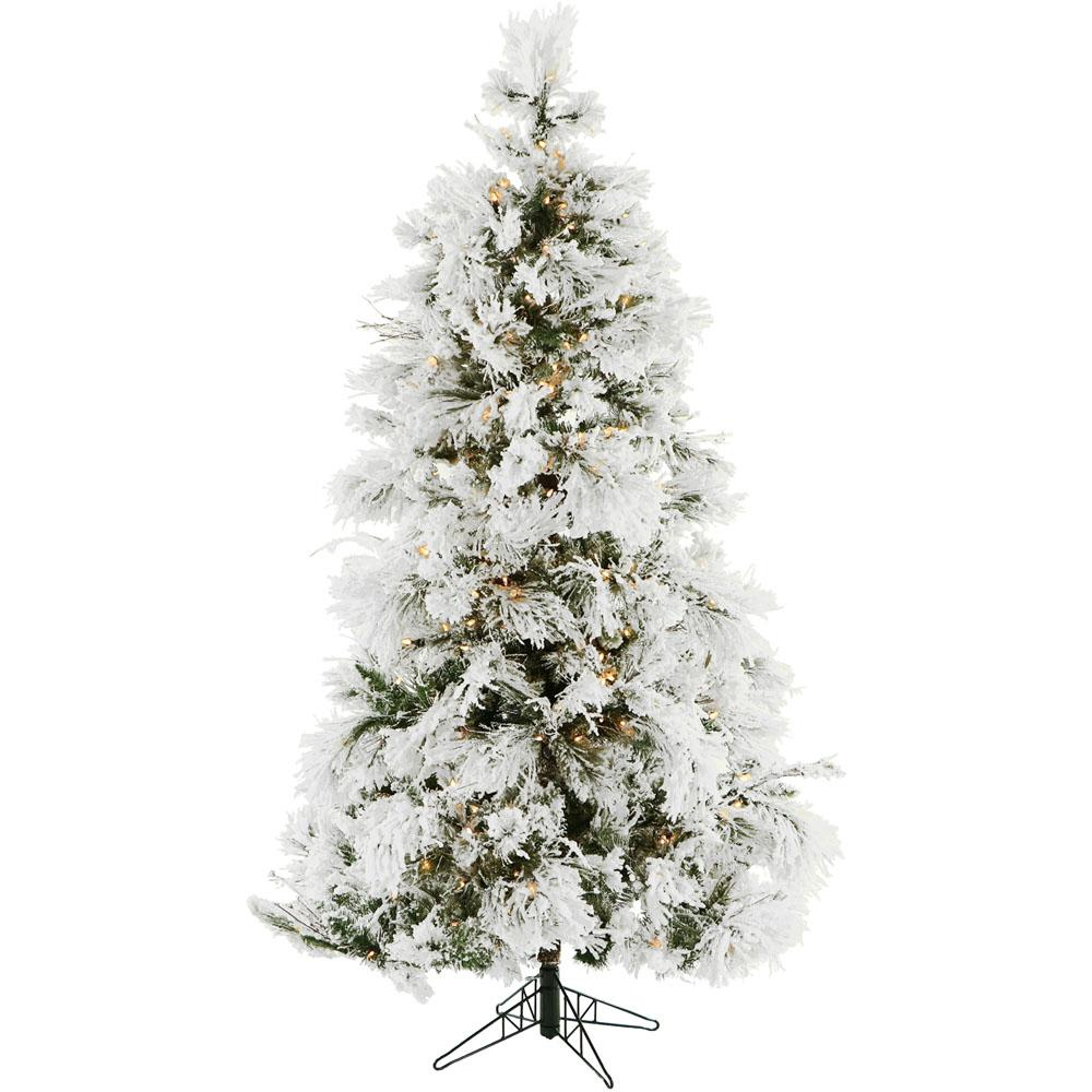 Frosted Slim Christmas Tree: National Tree Company 6.5 Ft. Jersey Fraser Fir Slim