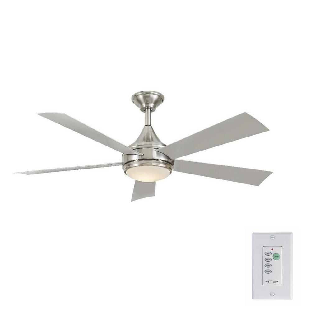 Home Decorators Collection Hanlon 52 In Integrated Led Indoor Outdoor Stainless Steel Ceiling