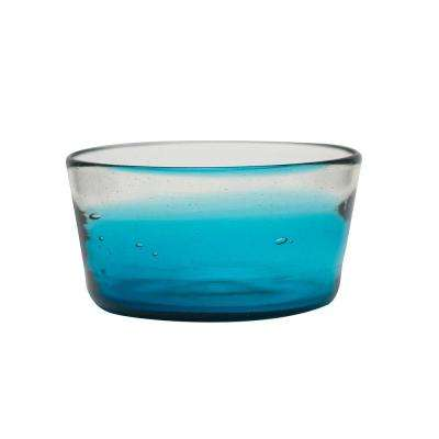 Chico 28 oz. Glass Dog Bowl in Blue