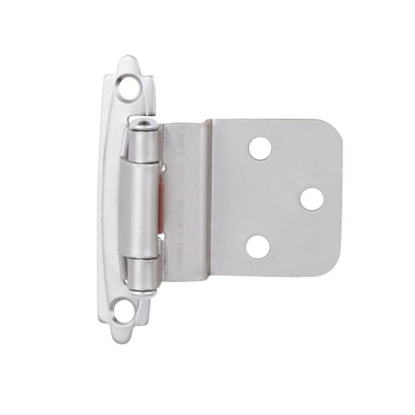 Liberty Satin Nickel Self Closing 3 8 In Inset Cabinet Hinge 1 Pair H0104ac Sn O3 The Home Depot