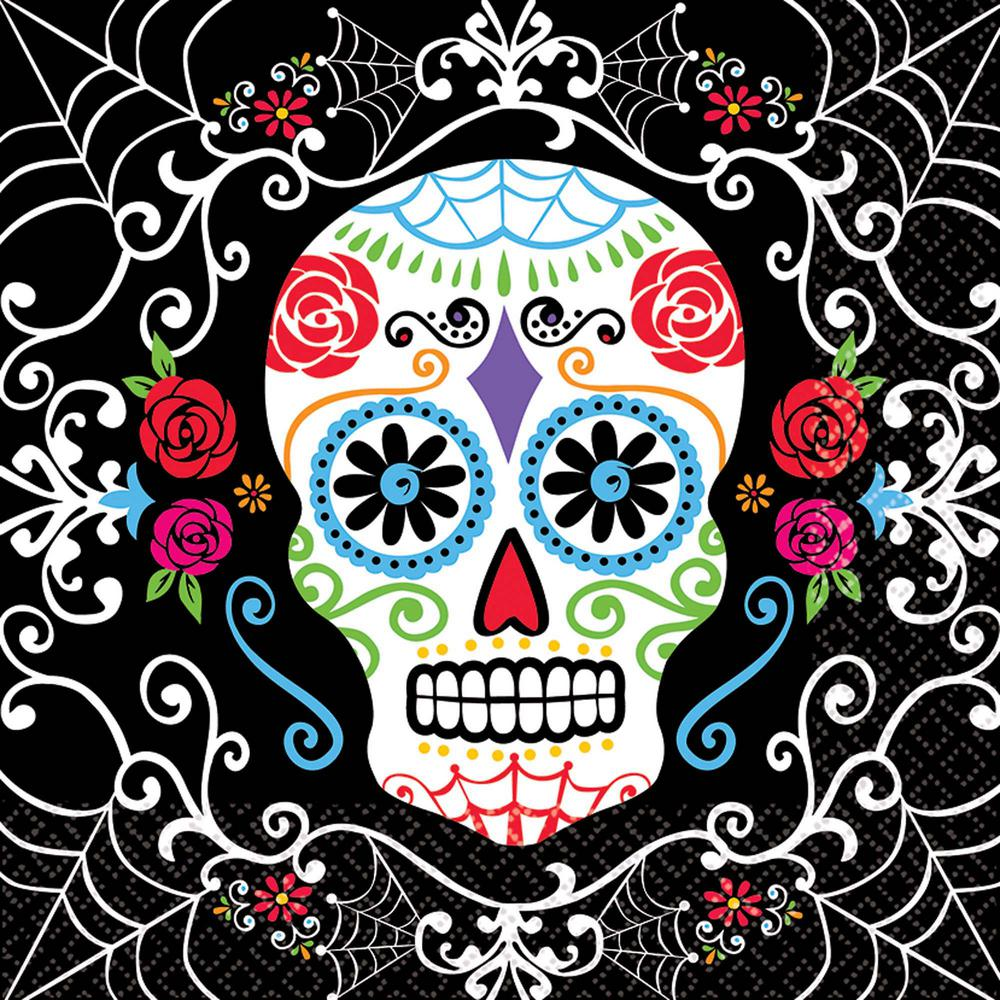 6.5 in. x 6.5 in. Day of the Dead Luncheon Napkins