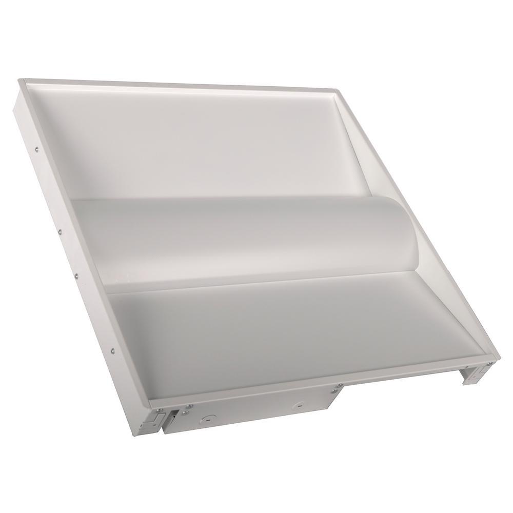 2 ft. x 2 ft. 64-Watt Equivalent Volumetric Panel Integrated LED White Luminaire Troffer Cool White
