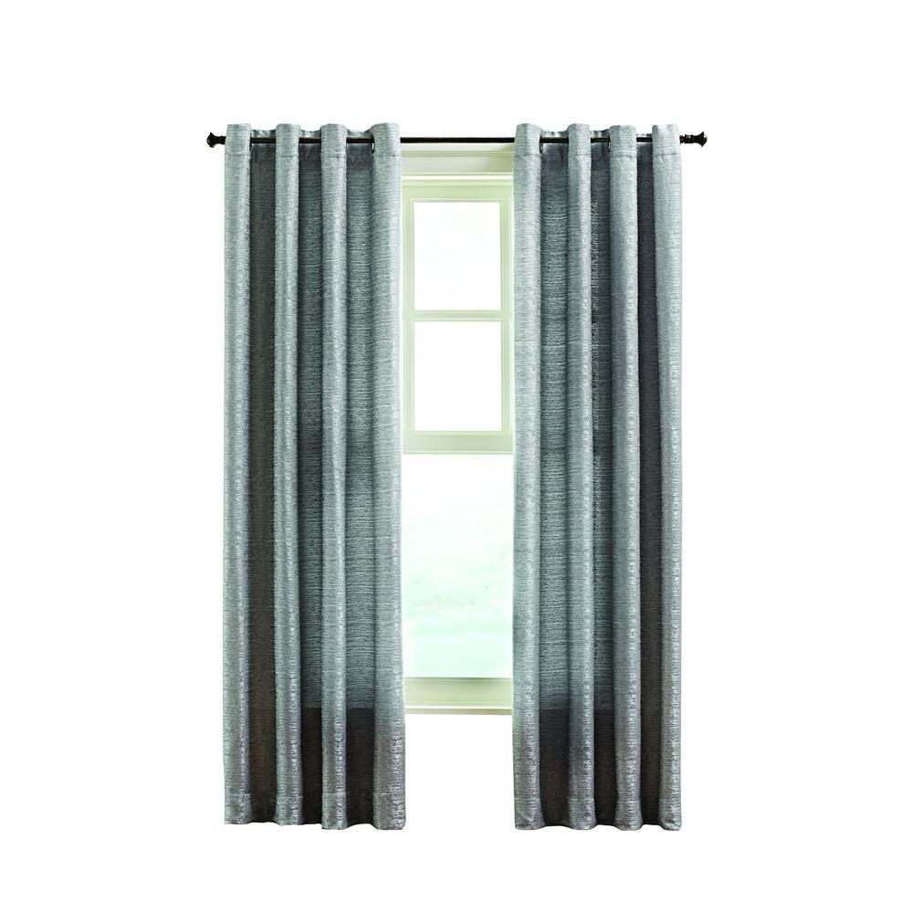Home Decorators Collection Gray Montclair Curtain 50 In W X 108 In L Mon108gry The Home Depot