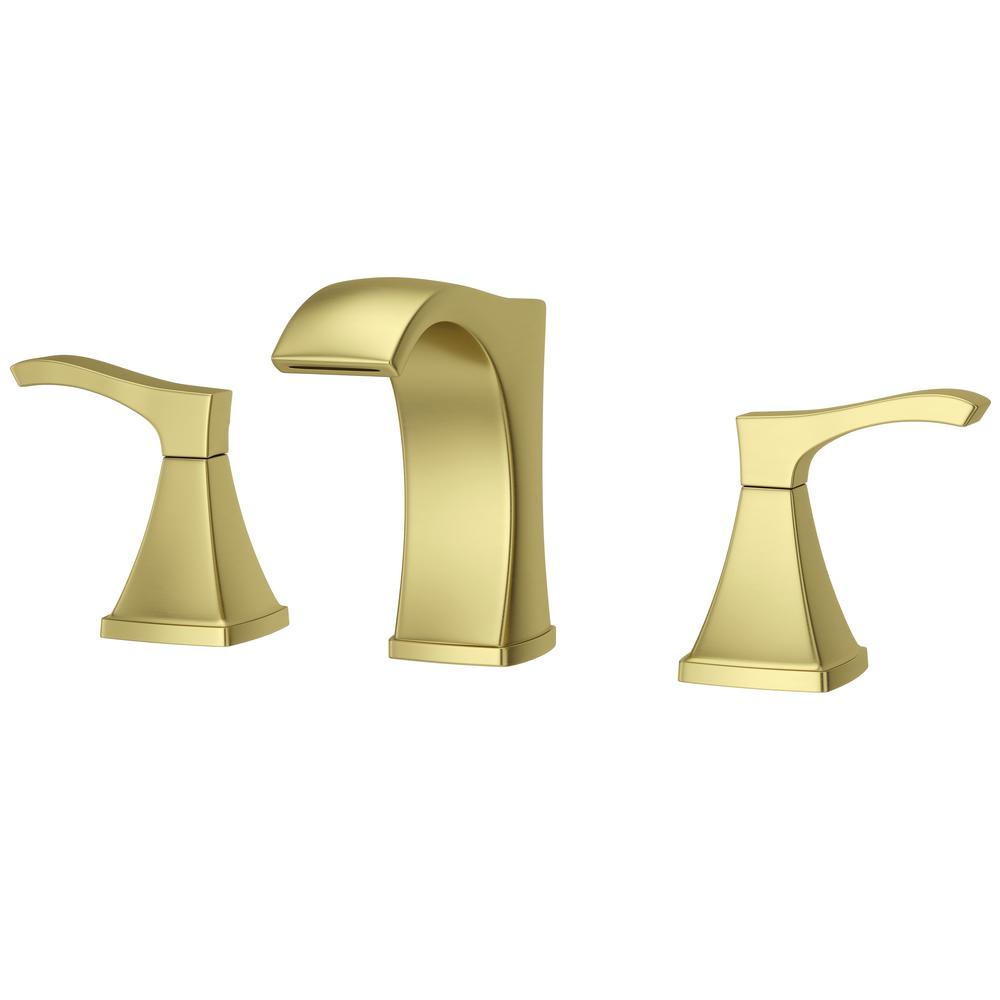 Pfister Venturi 8 in. Widespread 2-Handle Bathroom Faucet in Brushed Gold
