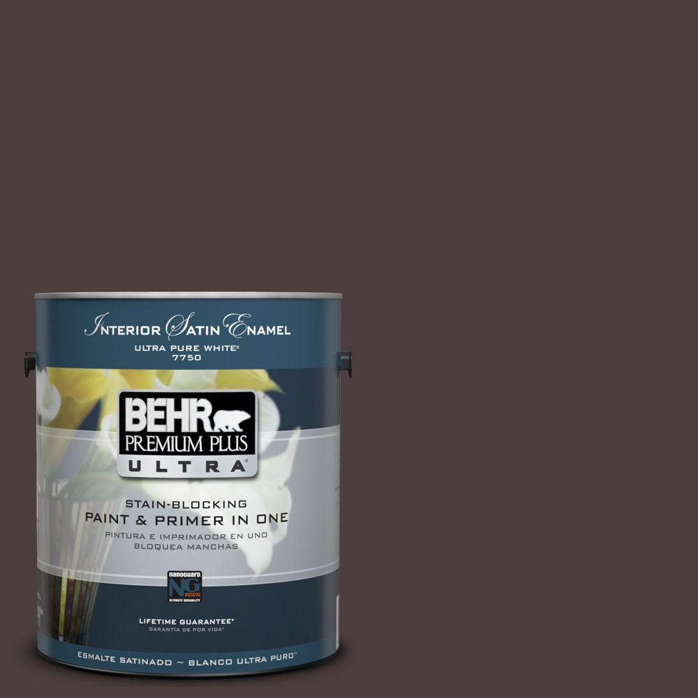 BEHR Premium Plus Ultra 1-Gal. #UL110-23 Polished Leather Interior Satin Enamel Paint