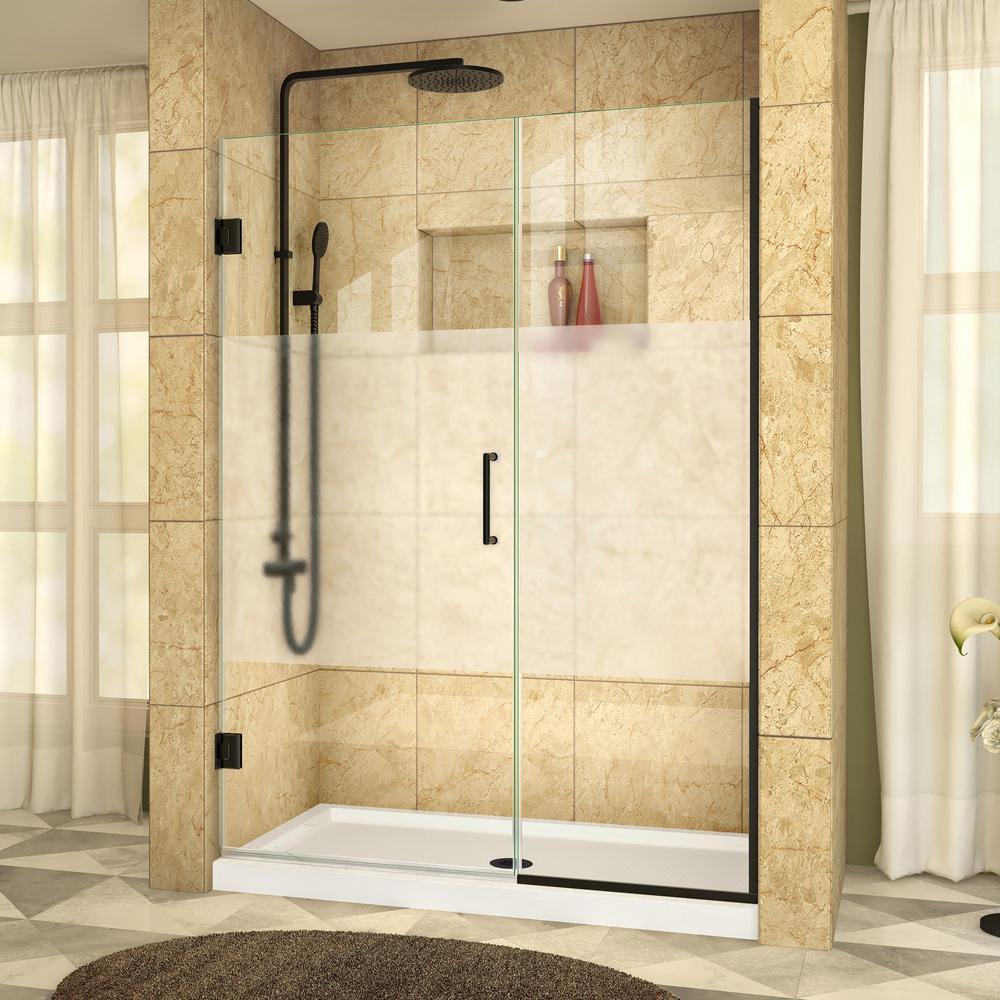 DreamLine Unidoor Plus 47 in. x 72 in. Frameless Hinged Shower Door ...