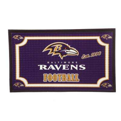 Baltimore Ravens 18 in. x 30 in. Embossed Welcome Mat