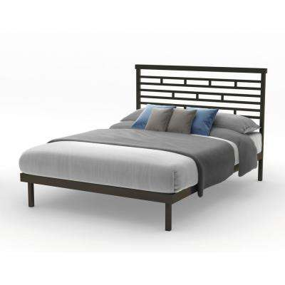 Highway Brown Metal Queen Size Platform Bed