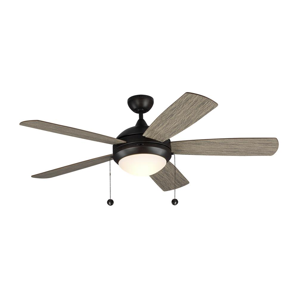 Discus Classic 52 in. Integrated LED Aged Pewter Ceiling Fan with