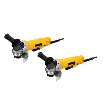 7.5 Amp 4.5 in. Corded 12,000 RPM Paddle Switch Small Angle Grinder (2-Pack)