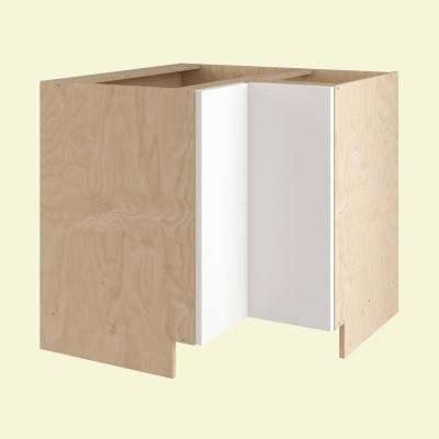 Salerno Ready to Assemble 36 x 34.5 x 24 in. Easy Reach Base Corner Cabinet with 2 Doors in Polar White