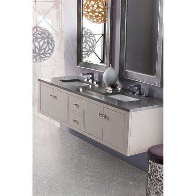 Silverlake 72 in. Single Bath Vanity in Mountain Mist with Quartz Vanity Top in Grey Expo with White Basin