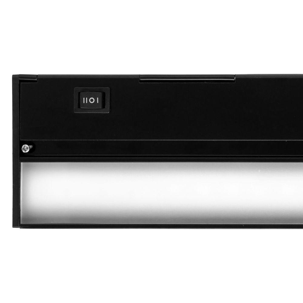 Nicor Slim 30 in. Black Dimmable LED Under Cabinet Light Fixture