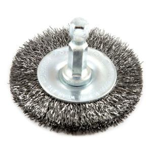 Fine Crimped with 1//2-Inch and 5//8-Inch Arbor 5-Inch-by-.008-Inch Forney 72743 Wire Wheel Brush