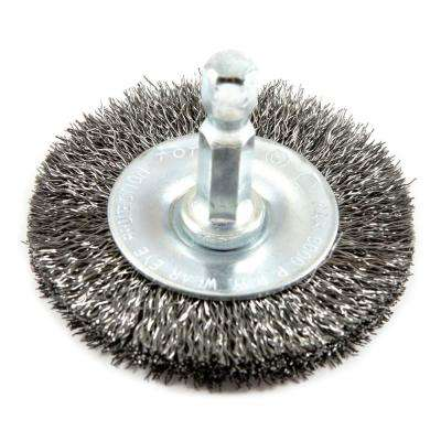 2 in. x 1/4 in. Hex Shank Fine Crimped Wire Wheel Brush