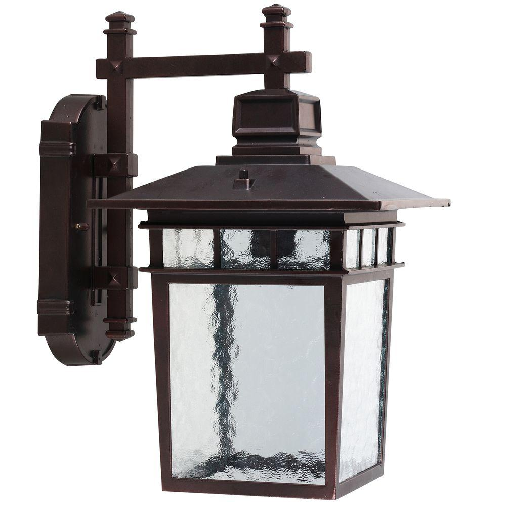 Yosemite Home Decor Dante Collection 1-Light Oil Rubbed Bronze Outdoor Wall-Mount Lamp