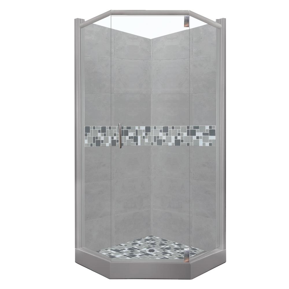 Attrayant American Bath Factory Newport Grand Hinged 32 In. X 36 In. X 80 In