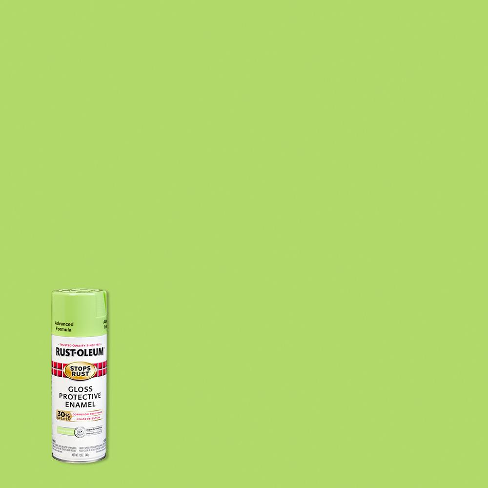 Rust-Oleum Stops Rust 12 oz. Advanced Protective Enamel Gloss Willow Green Spray Paint (6 Pack)