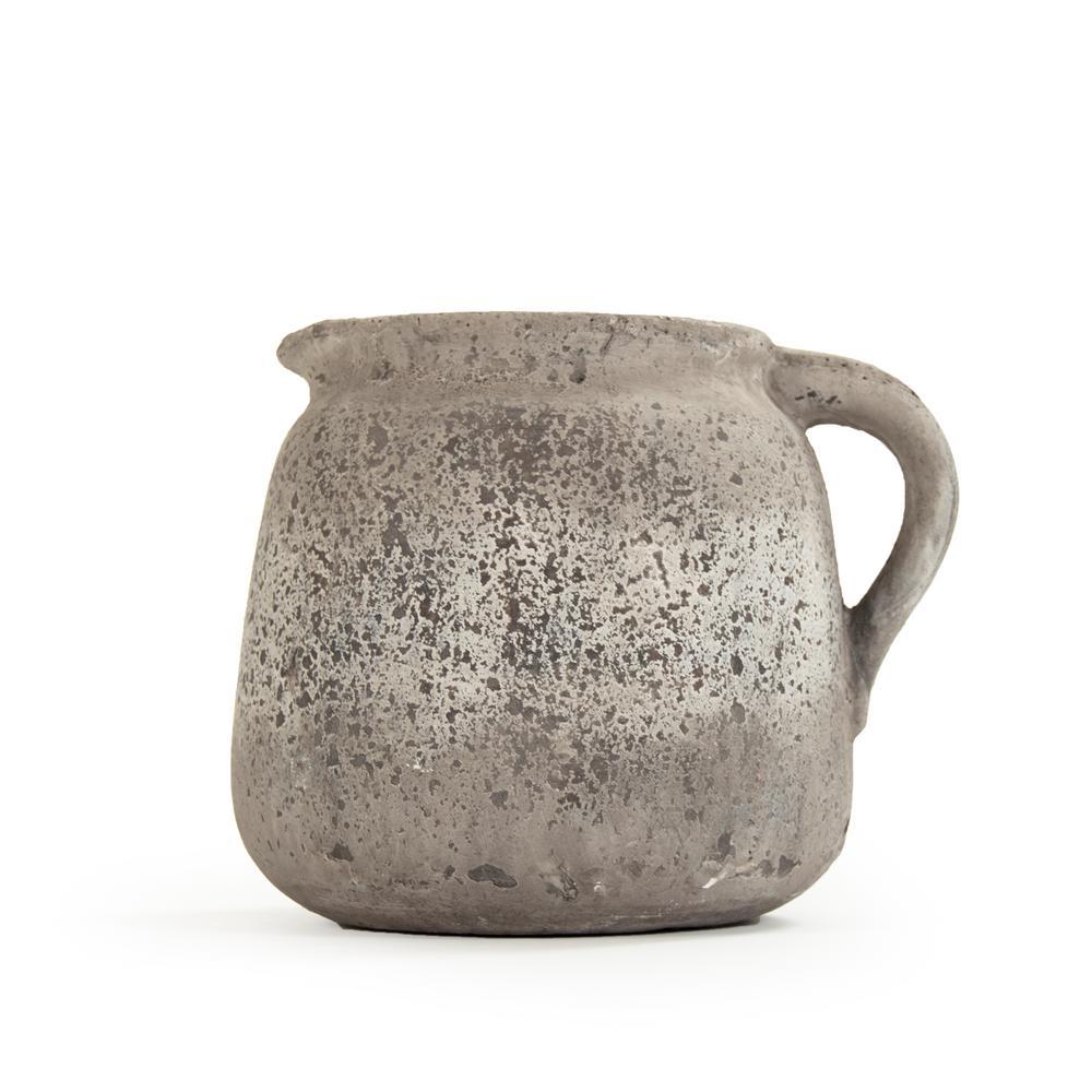 Terracotta Grey Decorative Pitcher Vase