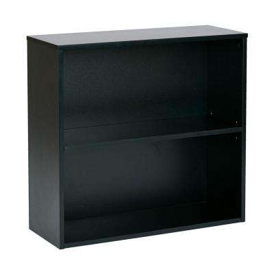 Prado Black Open Bookcase