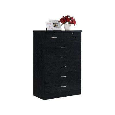 7-Drawer Black Chest