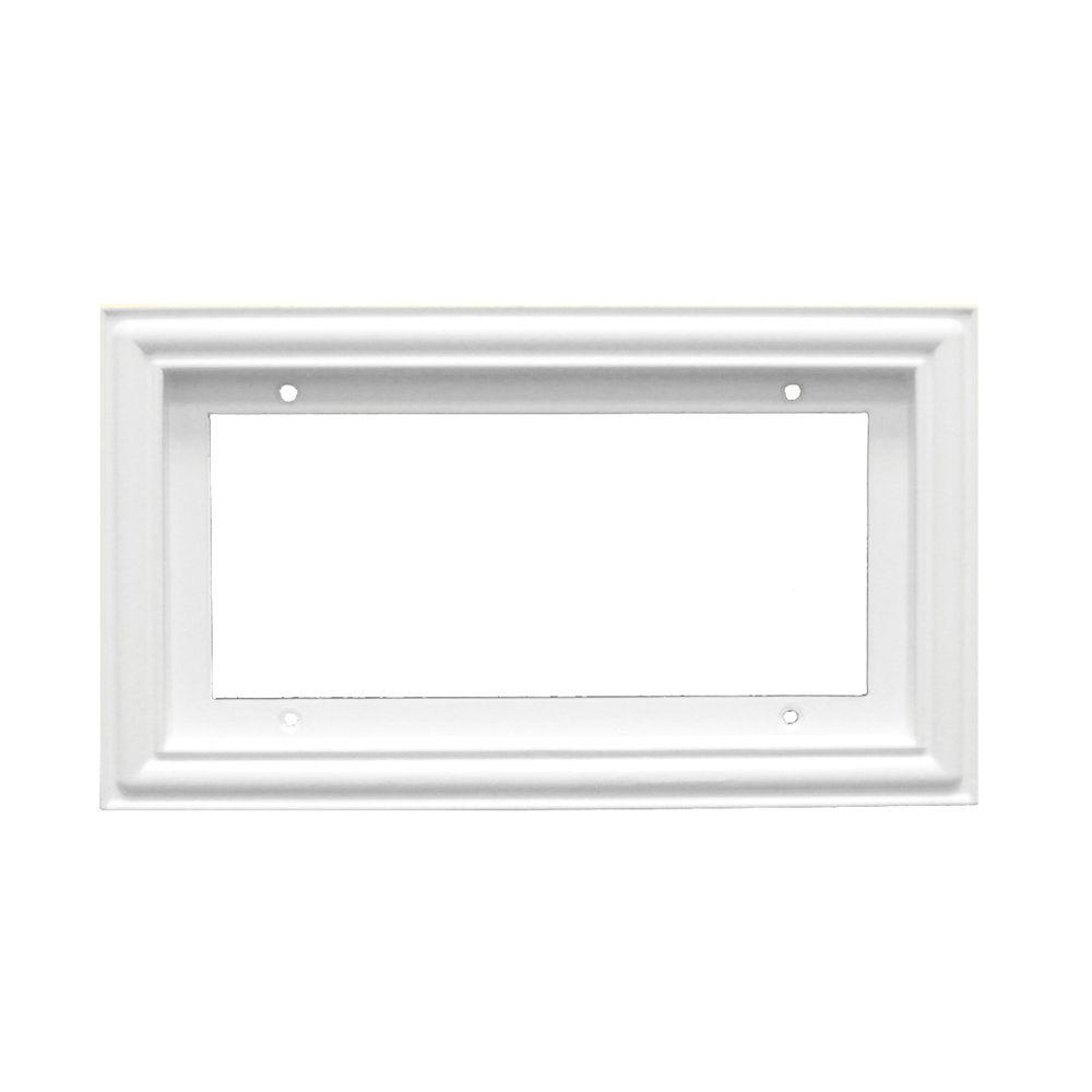 null 2 in. x 4 in. White Standard Frame Number 4
