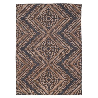 Cypress Charcoal/Rust 6 ft. x 9 ft. Medallion Area Rug