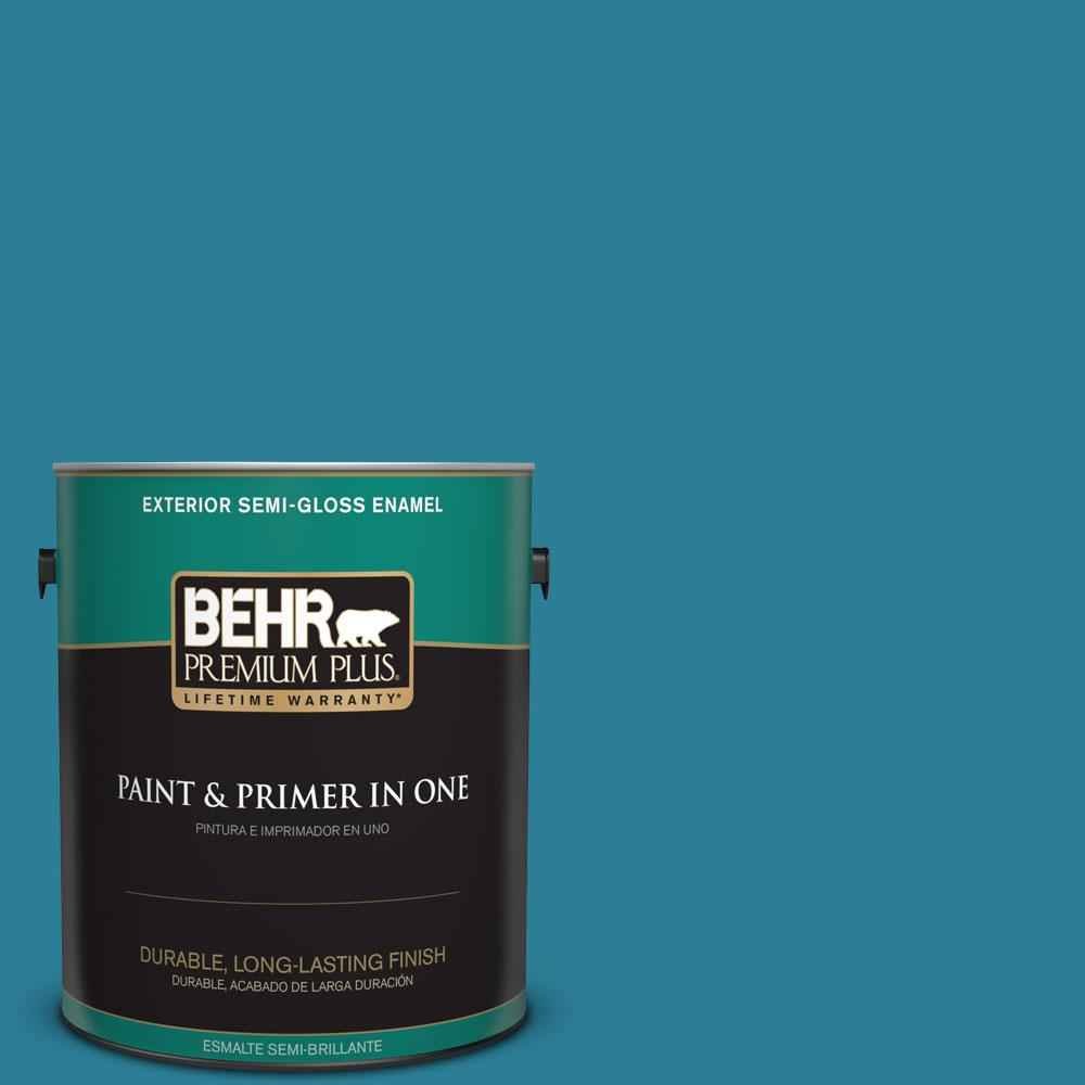 1-gal. #M480-6 Valley of Glaciers Semi-Gloss Enamel Exterior Paint