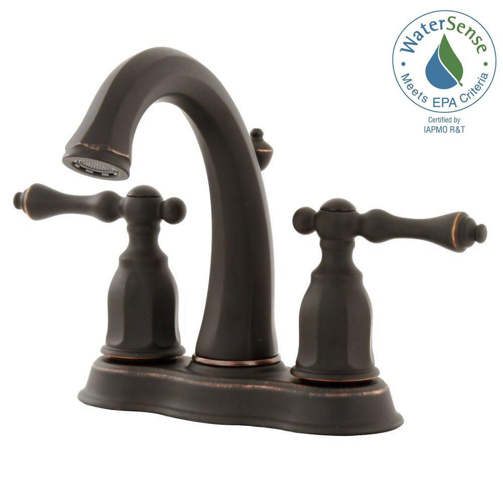 KOHLER Kelston 4 in. 2-Handle Mid-Arc Water-Saving Bathroom Faucet ...