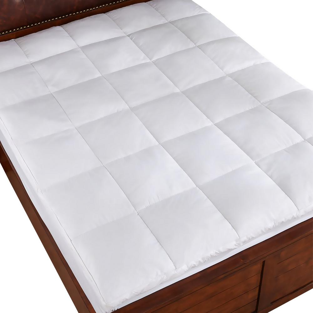 Peace Nest White Full Goose Feather Bed He Fb 18027 F The Home Depot