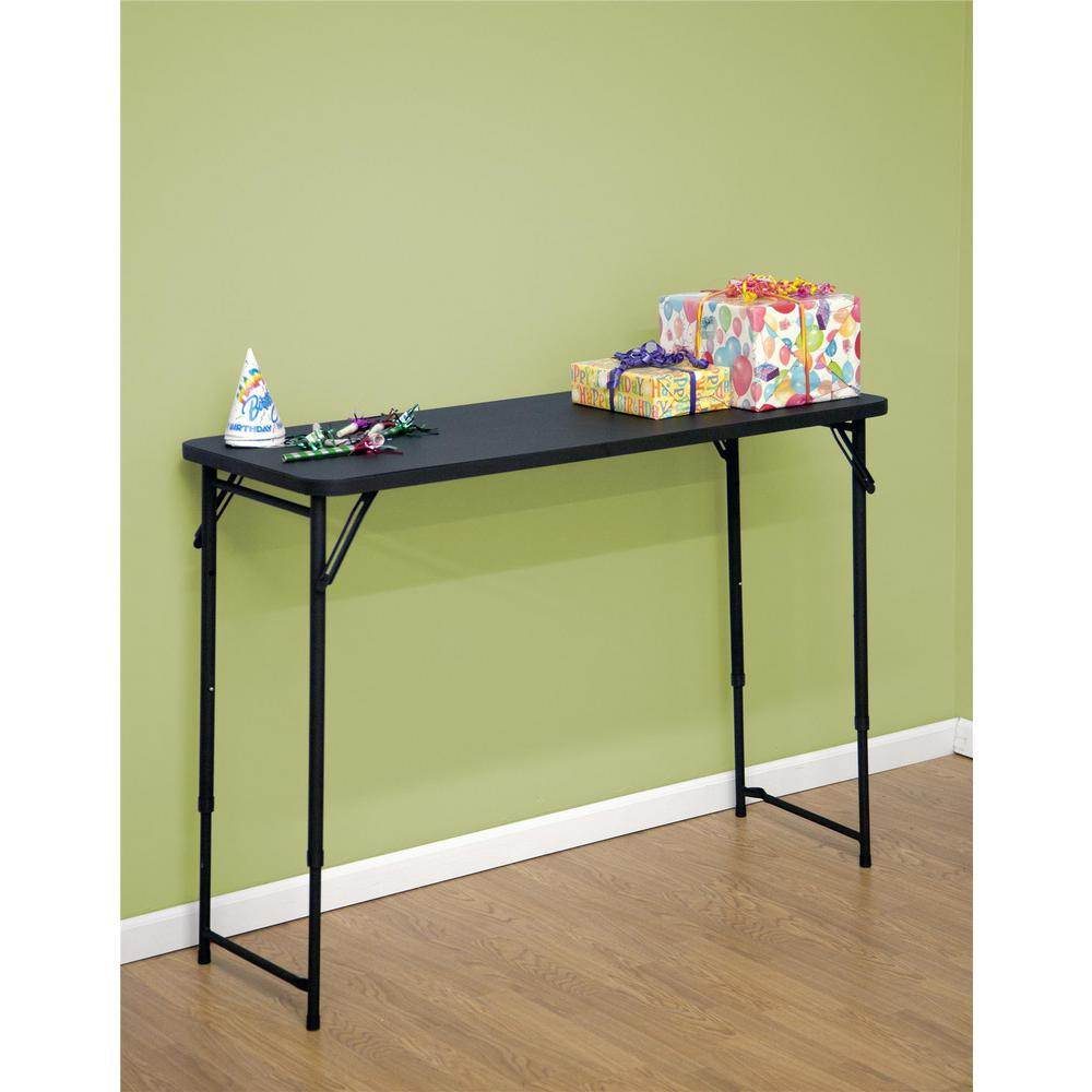 Black Plastic Portable Adjule Height Folding High Top Table