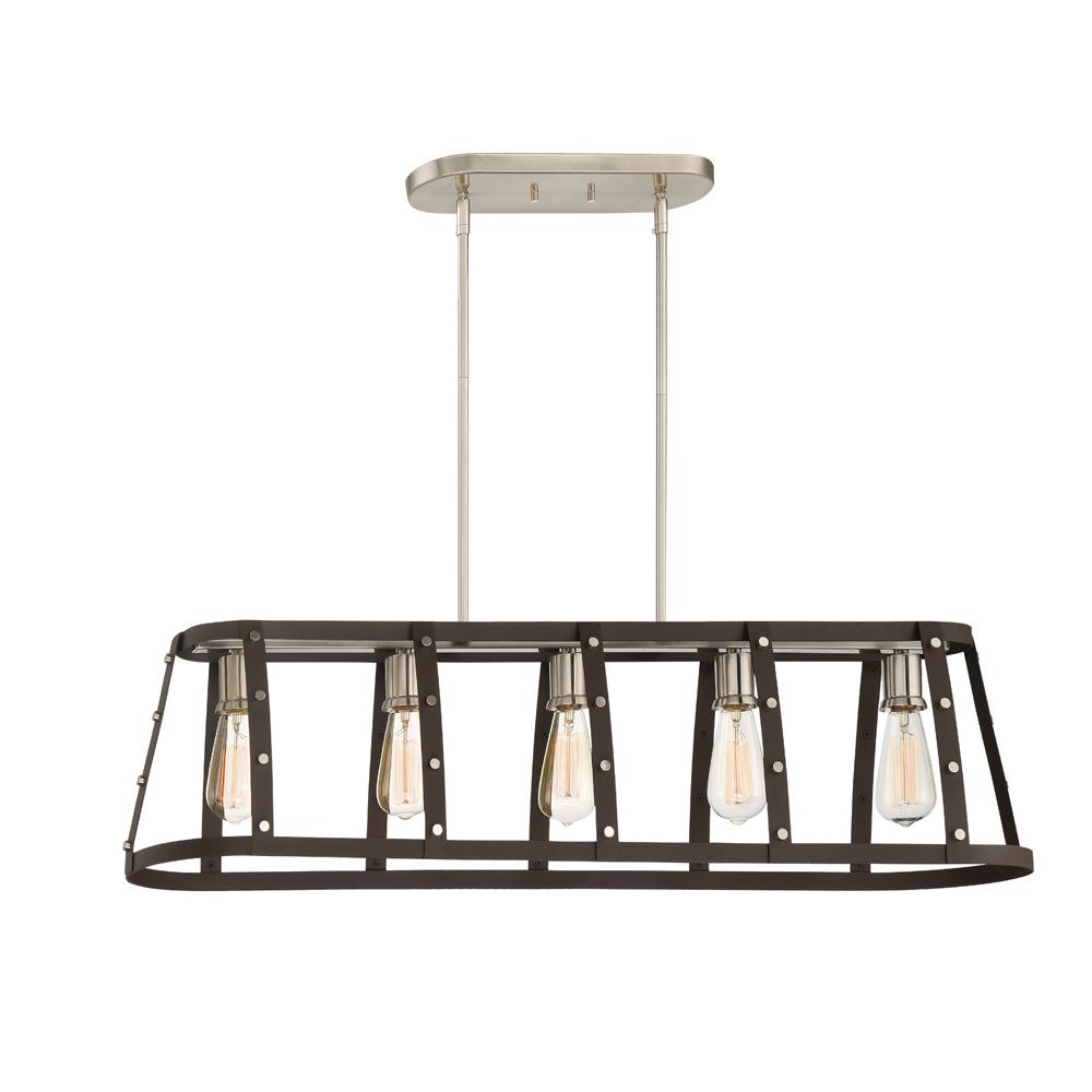 Presidio 5-Light Rustique Linear Chandelier